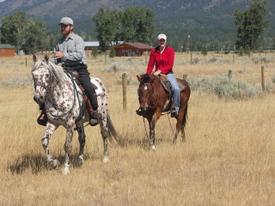 Domino_and_nikki_riding_in_pasture